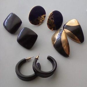 Lot of 4 Vintage Earrings. Beautiful Lot!!